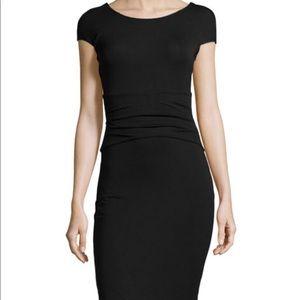 DVF NWOT Bally Black Cap Sleeve Dress